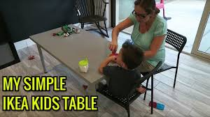 Ikea Kids Table by Ikea Hack Custom Kids Table Youtube