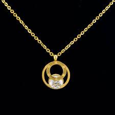 girl necklace pendant images New designer zircon necklace pendant for girl 18k gold stainless jpg