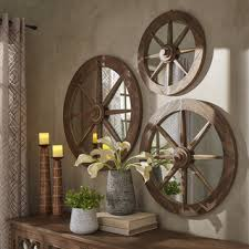 Wagon Wheel Home Decor Shop For Signal Hills Moravia Round Reclaimed Wood Wagon Wheel