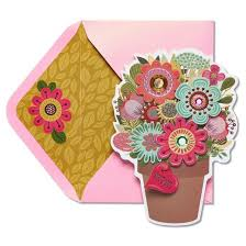 papyrus flower pot s day card with gems target