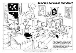 coloring tend garden heart