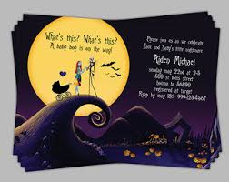 nightmare before christmas baby shower nightmare before christmas baby shower invitation baby boy blue