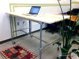 diy pipe computer desk computer desk ideas that make more spirit work plywood diy pipe desk