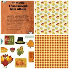 thanksgiving mini albums