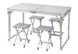 lightweight folding table and chairs person aluminum lightweight folding c table with 4 stools by
