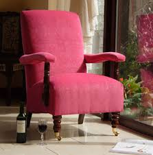 Chenille Armchair Pink Chenille Chair