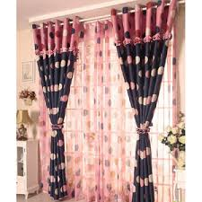 Navy And Pink Curtains Rustic Cotton Linen Navy Green Curtains