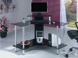 Modern Computer Desk by Modern Computer Desk With Glass Sides Coaster 800830 Within Glass