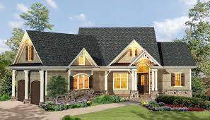 Craftsman Home Plan Gabled 3 Bedroom Ranch Home Plan 15884ge Architectural Designs