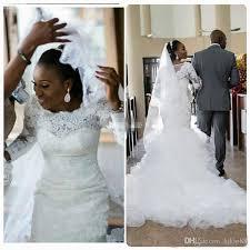 african vintage mermaid lace wedding dresses plus size long sleeve
