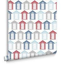 Blue And White Wallpaper by Beside The Seaside Red Blue And White Wallpaper Graham U0026 Brown