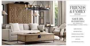 Home Decorators Coupon 20 Off Restoration Hardware Friends And Family Sale Everything 20 Off