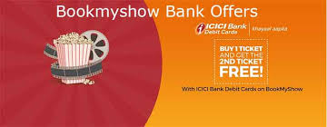 bookmyshow offer bookmyshow bank offer buy 1 get 1 movie ticket free