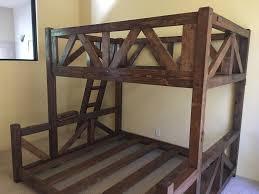 Custom Bunk Beds Simple Timber Mountain Barnwood Bunk Bed For - Timber bunk bed