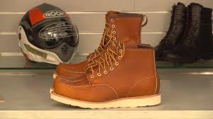short bike boots red wing shoes 875 and 877 review at motolegends tv youtube