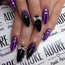 best 20 purple stiletto nails ideas on pinterest acrylic nails