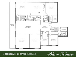 4 Bedroom Home Floor Plans House Floor Plans Bedroom Bath And Bedroom Bath Traditional Ranch