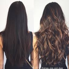 diy highlights for dark brown hair from dark to caramel so in love with the transformation we also