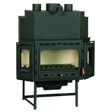 burning fireplace insert prity model tc2f heat output 20kw