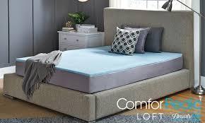 82 off on gel memory foam mattress topper groupon goods