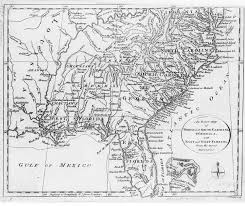 map usa in 1800 1800 map of southeastern usa