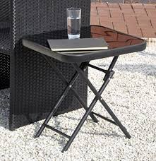 black patio table glass top funky buys folding drinks side garden patio table glass top 50 x