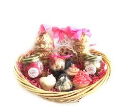 candle gift baskets bakery candles and food in gift baskets everything