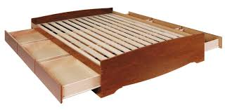 King Platform Bed Storage Plans by White Padded King Size Bed Frame With Storage Low Drawers And