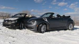 convertible volkswagen beetle used 2013 volkswagen beetle vs eos convertible snowy 0 16 mph mashup