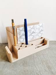 organiseur de bureau en bois desk organiser design printed in 3d in wood coco bureaux design