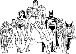 coloring page justice league coloring pages to print coloring