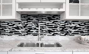 black backsplash kitchen black gray and white backsplash tile backsplash com kitchen