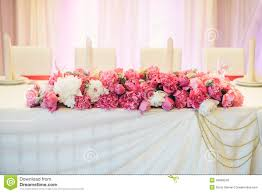 Peony Floral Arrangement Floral Arrangement Of Peonies On The Table Stock Photo Image