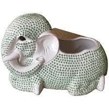 hobnail green elephant planter palm beach ceramic plant pot