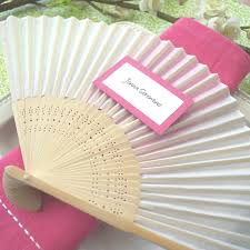 fan favors held folding silk fan favors 12 colors