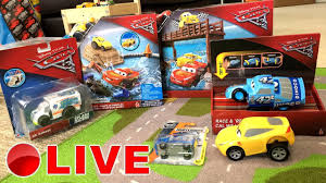 disney cars 3 toys live new toy unboxing show rare race