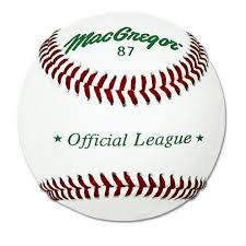 amazon com macgregor 87 official split baseball leather one