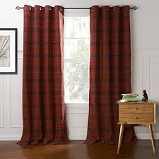 Plaid Blackout Curtains Twopages Grommet Top Classic Country Plaid Jacquard Curtain Drapes
