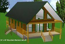 cabin blueprints building plans cabin blueprints ebay
