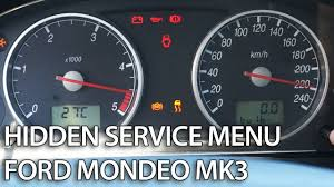 how to enter hidden menu in ford mondeo mk3 service mode gauges