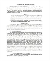 commercial rental agreement format 13 commercial lease agreement