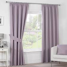 Drapes For Windows by Interior Lavender Blackout Curtains With White Laced For Window