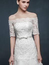 winter wedding dresses 2011 vintage the shoulder half sleeves lace winter wedding dress