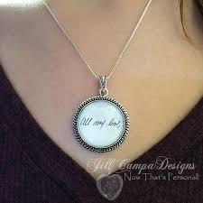 custom handwriting necklace custom handwriting necklace child s handwriting your loved ones
