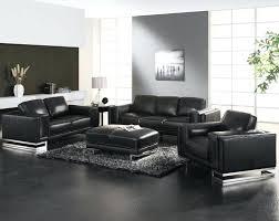 Black Leather Sofa Set Splendid Contemporary Leather Living Room Furniture Unique Design