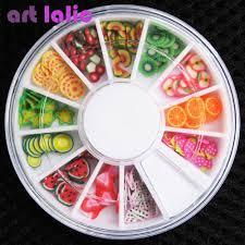 aliexpress com buy 3d polymer clay tiny fimo fruit slices wheel