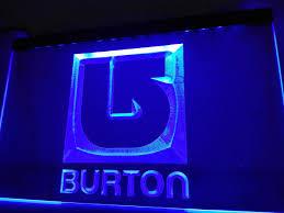 burton snowboarding led sign u2013 vintagily