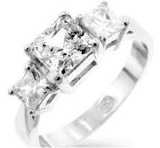 zirconia stone rings images Isotta three stone princess cut engagement ring 3ct cubic jpg