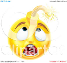 happy thanksgiving smiley face clipart of a 3d scared yellow male smiley emoji emoticon face bomb