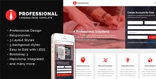 professional landing page template html bootstrap template